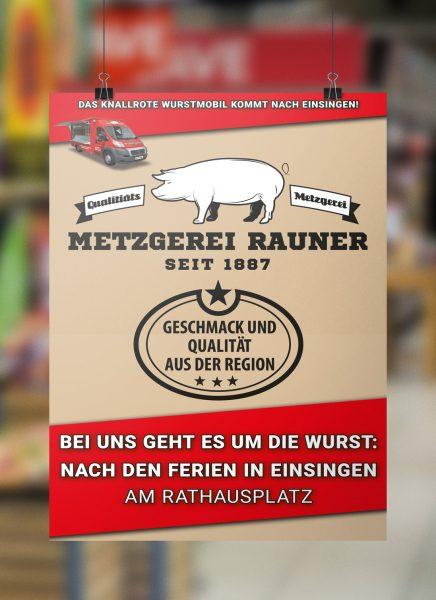 Metzgerei Rauner Poster Wurstmobil