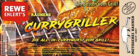 Metzgerei Rauner Rewe Label Currywurst