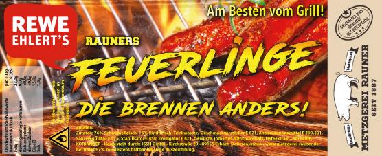 Metzgerei Rauner Rewe Label Feuerlinge