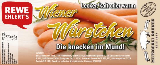 Metzgerei Rauner Rewe Label Wiener