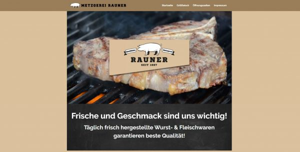 Website Metzgerei Rauner Home