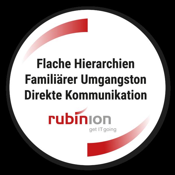 Vertrauenssiegel rubinion AG Ulm